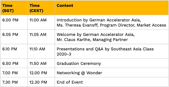 German Startup Night - Virtual Edition - Southeast Asia image