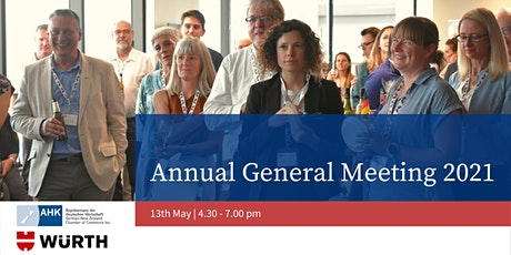 German-New Zealand Chamber of Commerce AGM 2021 & Members Networking tickets