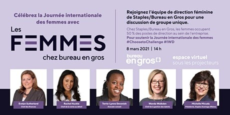 Journée internationale des femmes Un groupe de discussion sur le leadership billets