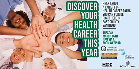 Free webinar: Discover your health career this  year! tickets