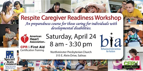 Respite Caregiver Readiness Training (Includes CPR/First Aid Certification) tickets