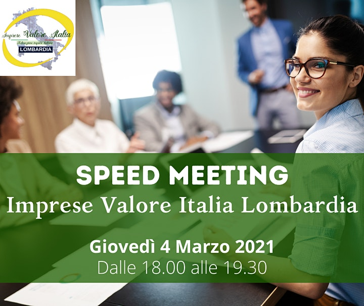 Immagine SPEED MEETING - Associati Imprese Valore Italia Lombardia