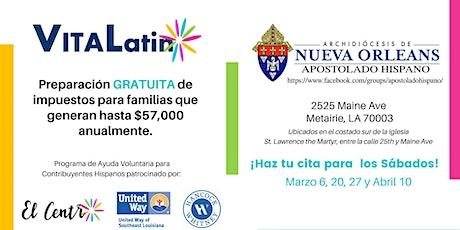Preparación de Impuestos en el Apostolado Hispano tickets