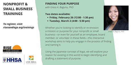 Nonprofit & Small Business Trainings: Finding Your Purpose tickets