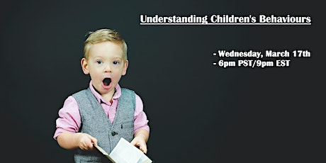 Understanding Children's Behaviours tickets