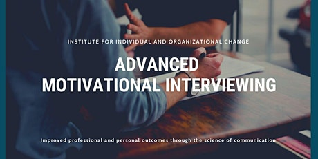 Advanced Motivational Interviewing tickets