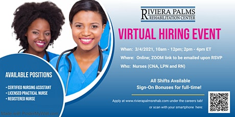 CNA, LPN and Registered Nurse Hiring Event 3/4/2021 tickets