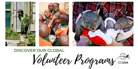 Discover our Global & Domestic Volunteer Programs tickets