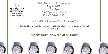 Free Shredding Event by BHHS Golden Properties tickets