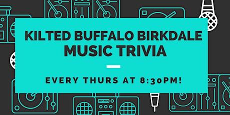 Thursday Music Trivia at Kilted Buffalo Birkdale tickets