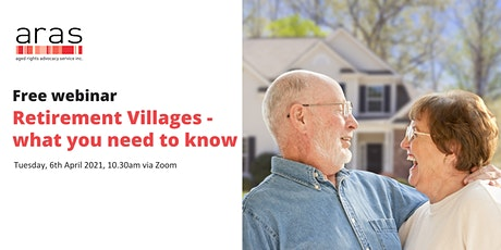 Retirement Villages – what you need to know tickets