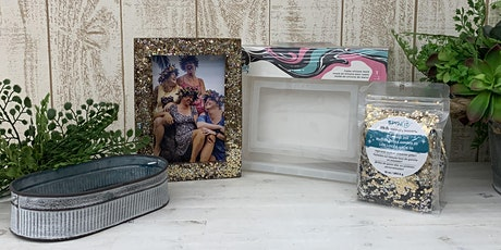 Glitter Resin Picture Frame and Trinket Tray tickets