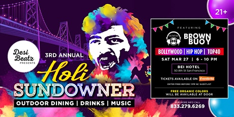 HOLI SUNDOWNER (Exclusive Rooftop Event) tickets