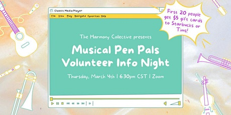 Volunteer Information Session on Thursday March 4th at 6:30 pm tickets