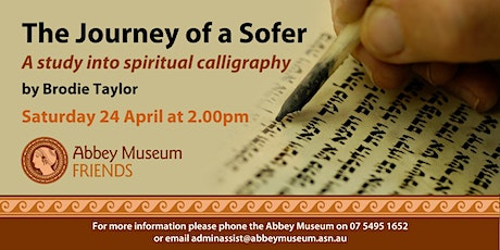 The Journey of a Sofer: A study into spiritual calligraphy by Brodie Taylor tickets
