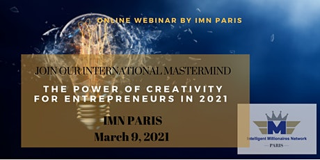Mastermind Live Webinar: The Power of creativity for entrepreneurs in 2021 tickets
