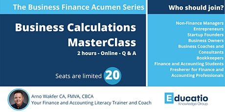 Aug 2021 -  Business Calculations for Non-Finance People Master Class tickets