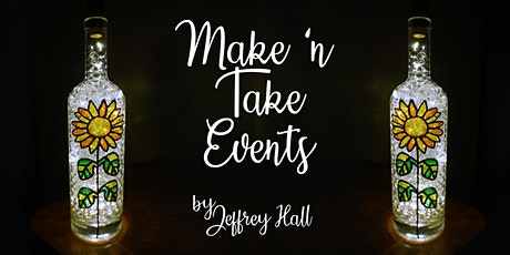 Make N Take Event - Stained Glass Bottle-Sunflower tickets