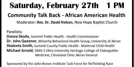 Community Talk Back - African American Health tickets