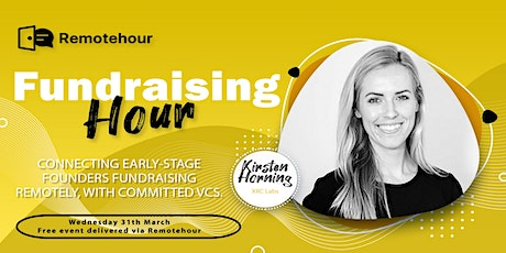 [3/31 10 am PST] Fundraising Hour with Kirsten Horning, XRC Labs tickets