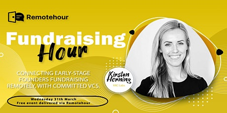 [3/31 10 am PST] Fundraising Hour with Kirsten Horning, XRC Labs biglietti