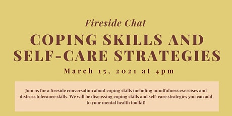 Coping skills and self-care strategies ~ Fireside Chat ~ tickets