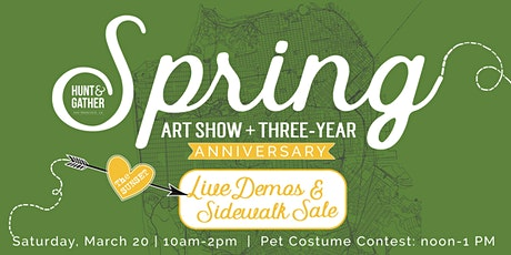Spring Art Show + 3-Year Anniversary w/ Live Demos + Sidewalk Art Sale tickets