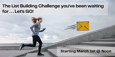 Email List Building Challenge March 2021 tickets