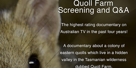 Quoll Farm Film Screening and Q&A with Cinematographer Nick Hayward tickets