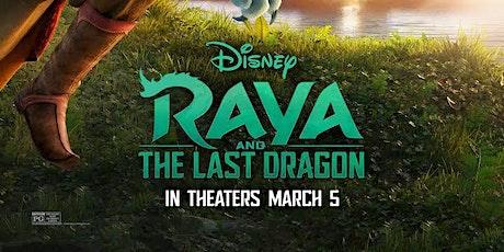 A Sensory friendly movie experience, Raya and the Last Dragon tickets