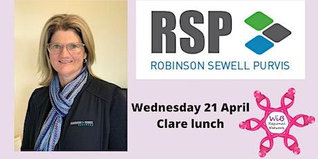 Clare lunch - Women in Business Regional Network - Wednesday 21/4/2021 tickets