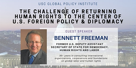 Returning Human Rights to the Center of U.S. Foreign Policy and Diplomacy tickets