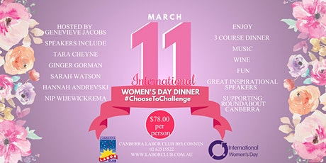 International Women's Day Dinner tickets