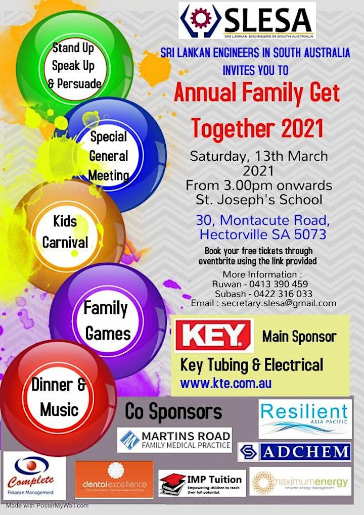 SLESA FAMILY GET TOGETHER - 2021 image