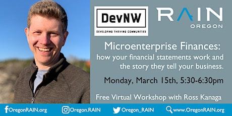 Microenterprise Finances: how your financial statements work tickets