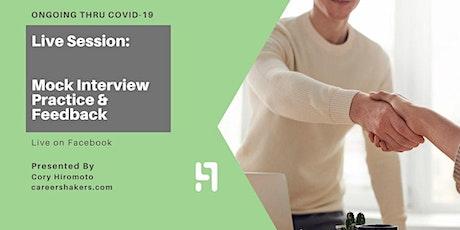 Mock Interview & Feedback—Business Development tickets