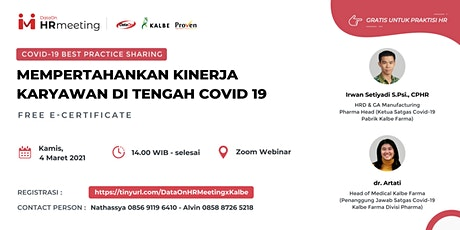 DataOn HR Meeting: KALBE – COVID-19 Best Practice Sharing tickets
