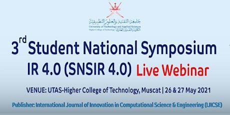 3rd Student National Symposium - SNSIR4.0 -Webinar tickets