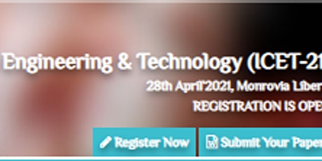 International Conference on Engineering & Technology (ICET-21) tickets
