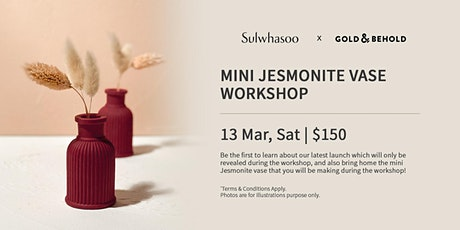 Sulwhasoo x Gold & Behold Mini Jesmonite Vase Workshop tickets