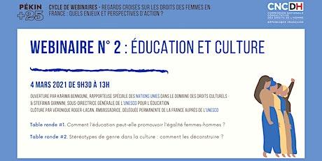 Webinaire Regards croisés #2 : éducation et culture billets