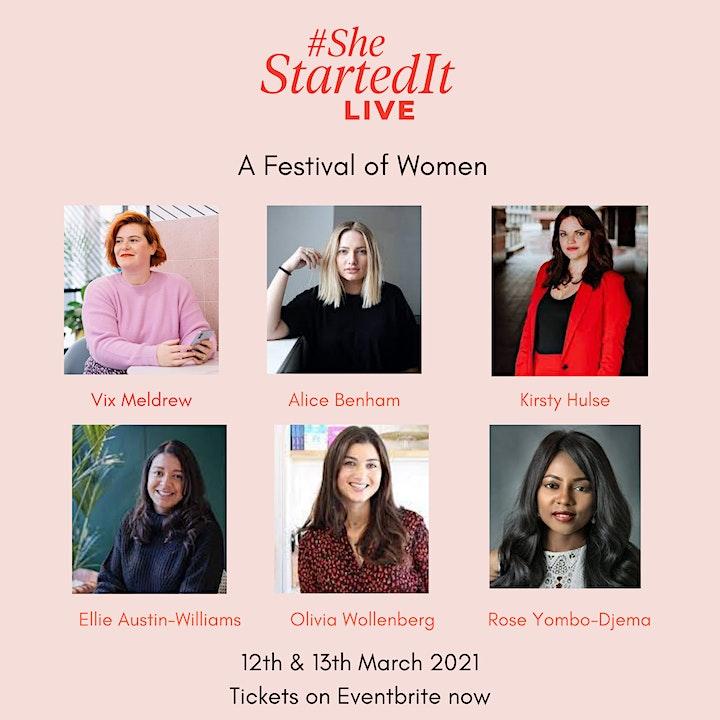 #SheStartedIt LIVE 2021: Festival of Female Entrepreneurs for #IWD2021 image