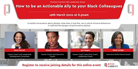 How to be an Actionable Ally to your Black Colleagues tickets