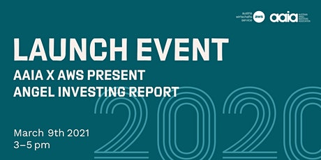 Launch event - aaia x aws presents Angel Investing Report 2020 Tickets
