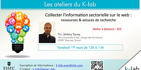 K-lab workshops - Collecter l'info sectorielle sur le web- EEE billets