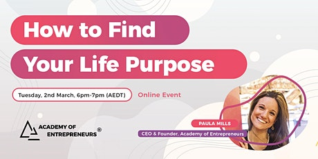 How to Find Your Life Purpose tickets