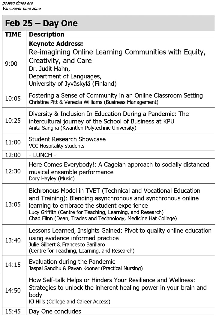 VCC Teaching, Learning, & Research Symposium image