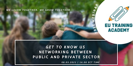 Free Webinar: Get to know us - Networking between public and private sector tickets