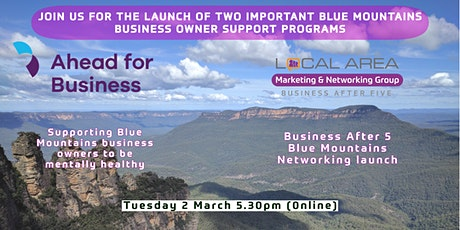 Springwood: Business After 5 trial & Mountains Mental Health program launch tickets