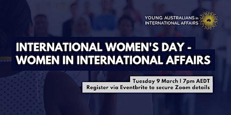 International Women's Day - Women in International Affairs Panel tickets